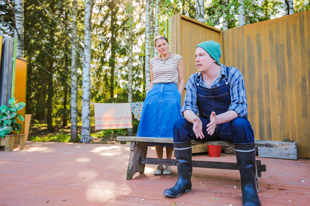 Inka Kallén ja Kalle Tahkolahti.