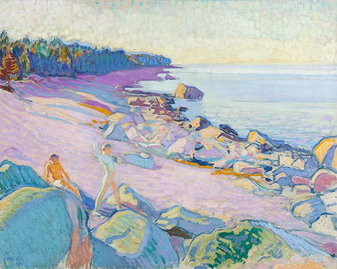 Magnus Enckell Poikia rannalla -maalaus