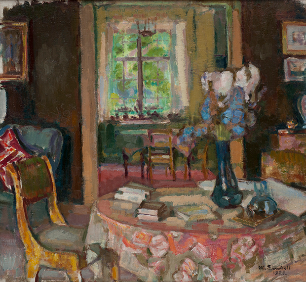 Magnus Enckell Taiteilijan työhuone Kilossa -maalaus