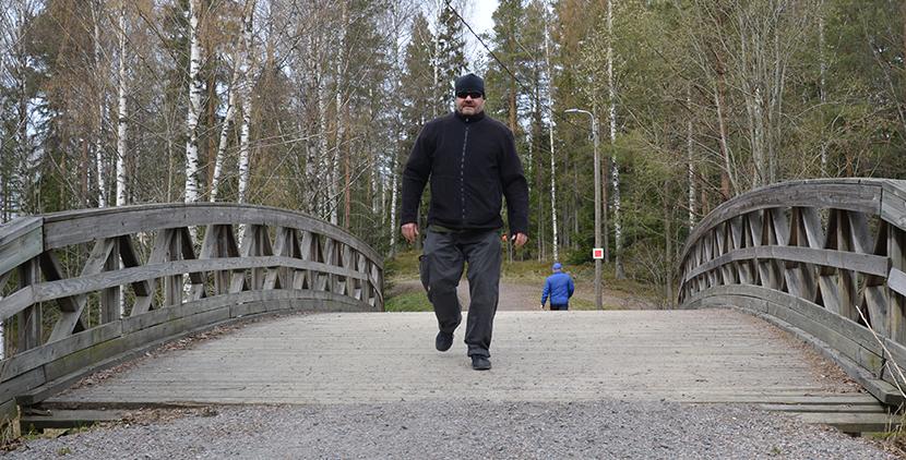 Mika Lemberg Keinukallion urheilupuistossa
